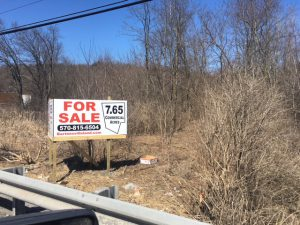 Bartonsville Land for Sale Sign